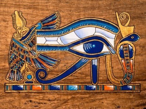13203533-egyptian-papyrus-depicting-the-horus-eye